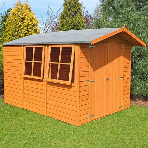 Shire Sheds by 10 X 7 Shire Overlap Door Wooden Garden Shed With