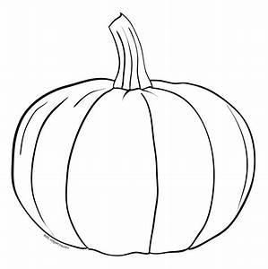 Outline, Of, A, Pumpkin