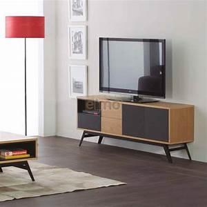 Meuble Tv Metal : meuble t l vision jeune et branch pour int rieur contemporain ~ Teatrodelosmanantiales.com Idées de Décoration