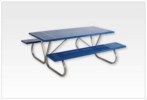 standard 8 foot table standard rect picnic table 1 5 8 inch bolt through 8
