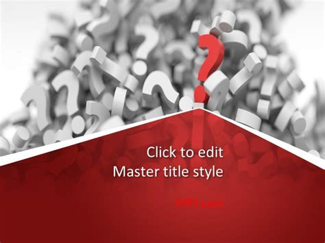Templete Free by Free Questions Answers Powerpoint Template Free