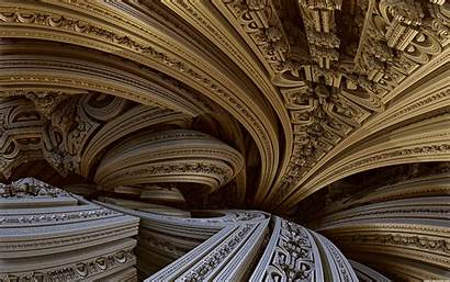 Abstract Architecture Desktop Fractal Building Temple Carving