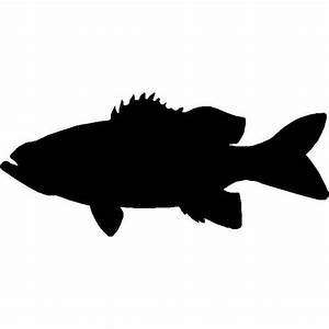 Bass Silhouette Wall Hanging/ Magnetic Memo board