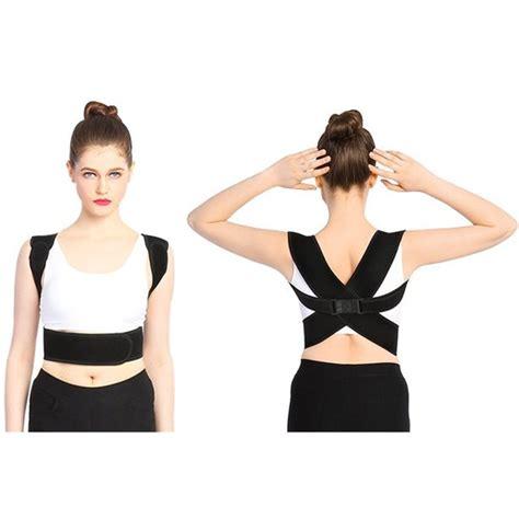 WALFRONT Adjustable Back Brace Posture Corrector for Women ...