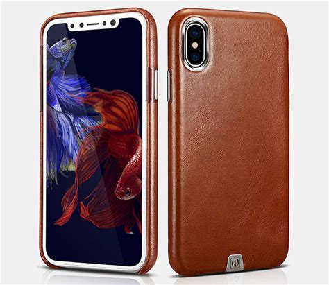Cowhide Iphone by Icarer Iphone X Transformer Vintage Back Cover Cowhide