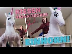 Riesen Einhorn Stofftier : aufblasbares riesen einhorn ii rayfox youtube ~ Eleganceandgraceweddings.com Haus und Dekorationen