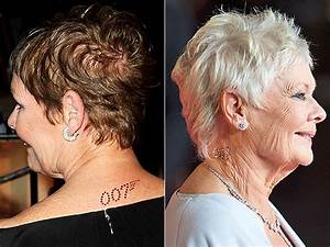 Judi Dench Wears James Bond 007 Diamond Body Art to Royal Gala