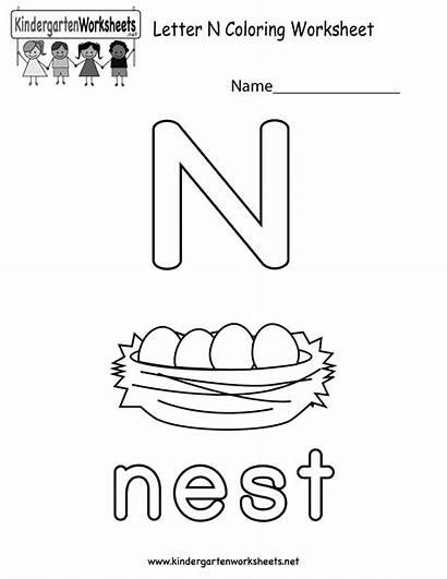 Letter Worksheets Worksheet Kindergarten Coloring Alphabet Activities