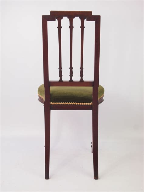 pair  small antique french mahogany chairs