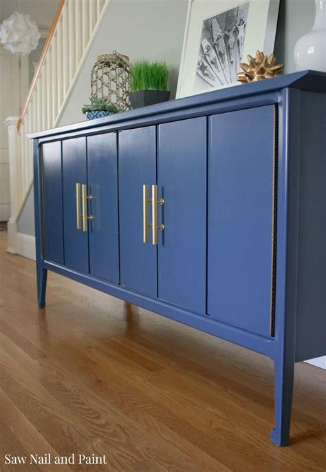 indigo blue mid century buffet  nail  paint