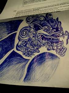 Foo Dog 2 (completed) by Cryogonal on DeviantArt