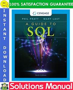 A Guide To Sql 9th Edition Solutions Manual By Philip J