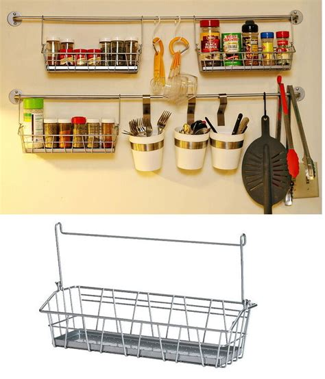 Metal Spice Rack Ikea by Ikea Steel Wire Basket Spice Jar Holder Kitchen Storage