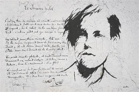Le Dormeur Du Val Rimbaud by Tableau Autre Portrait Arthur Rimbaud Le