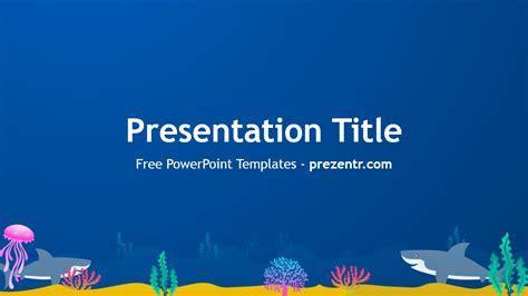 sharks powerpoint template prezentr powerpoint