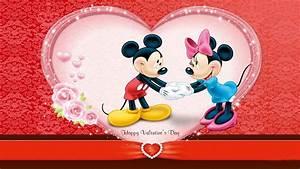 Cute Mickey Wishes Happy Valentines Day Wallpa #12086 ...