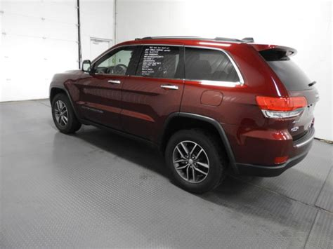 jeep grand cherokee limited 2017 red 2017 jeep grand cherokee limited 4x4 15 802 miles red suv