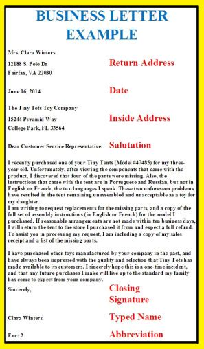 example of business letter business letters business letter examples 21567 | business letter example