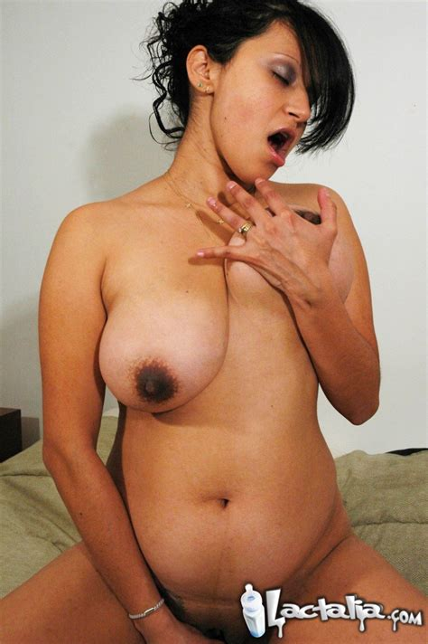Latina With Huge Pregnant Boobs And Belly Ass Point
