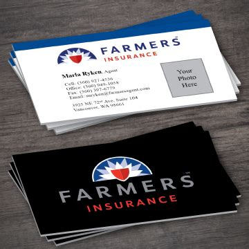 The impact however is great. Farmers Insurance Business Card Template 5-3 - Printing Expressly For You