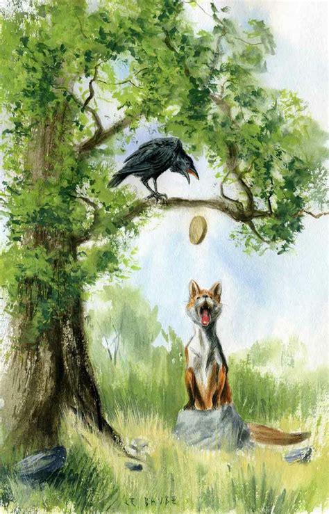 le de wood peinture 8 best images about le corbeau et le renard on and paintings