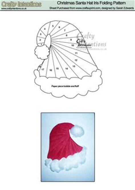 christmas santa hat iris folding pattern cup