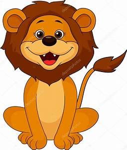 Smiling lion cartoon sitting — Stock Vector © tigatelu ...