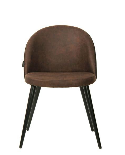 chaise metal vintage chaise vintage métal et microfibre lot de 2 giza