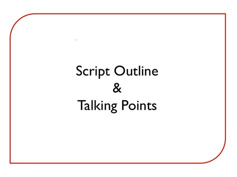 script outline examples   step  step guide