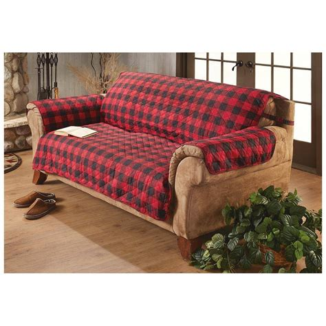 buffalo check sofa cover  fit deluxe pet sofa cover images waterproof thesofa