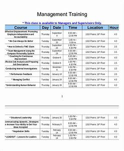 Training Course Schedule Template 14 Employee Training Schedule Template Word Pdf