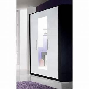 Armoire Laqué Blanc : armoire chambre noire laquee ~ Teatrodelosmanantiales.com Idées de Décoration