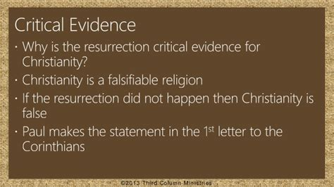 The Resurrection Of Jesus Christ The Critical Evidence