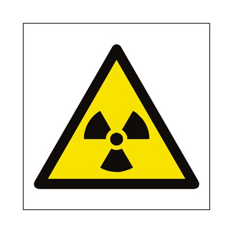 Safety Labels by Radioactive Material Symbol Sign Pvc Safety Signs