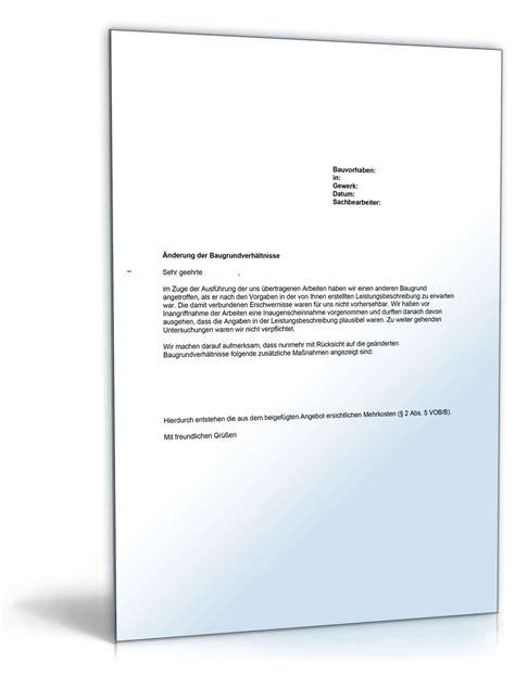 musterbrief bedenkenanmeldung gegen die baugrundverhaeltnisse
