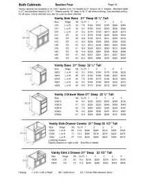 Standard Kitchen Cabinet Depth Australia by Ideas Standard Bathroom Base Cabinet Dimensions Standard