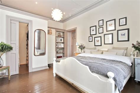 gray walls white trim bedroom gray trim white walls bedroom transitional with length mirror brown floor gray molding