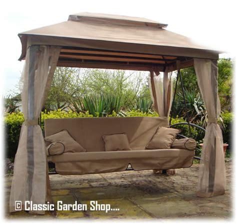 orlando garden patio gazebo 3 4 seater swing hammock bench