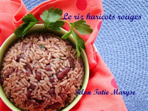la cuisine de maryse le riz haricots rouges la spécialité guadeloupéenne