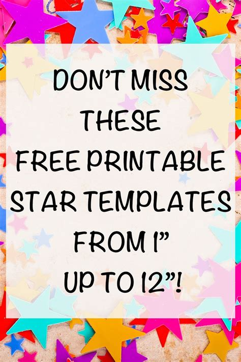 printable star templates extra large star
