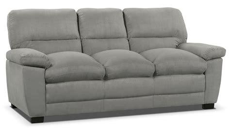 peyton microsuede sofa grey  brick