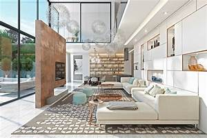 a, double, height, living, room, with, large, windows, ideas