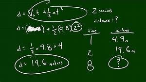 Physics Lecture - 4 - Calculating Distance Traveled - YouTube