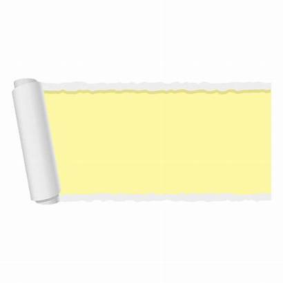 Ripped Paper Banner Yellow Transparent Vector Svg