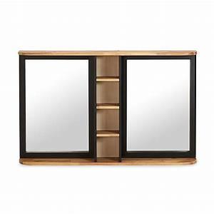 Alinea Miroir Salle De Bain : miroir de salle de bains en acacia massif 120cm pitaya ~ Teatrodelosmanantiales.com Idées de Décoration