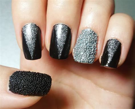 black and silver nail designs 21 caviar nail designs ideas design trends