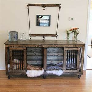 beautiful indoor wooden dog kennels and dog crate furniture With 2 dog crate furniture