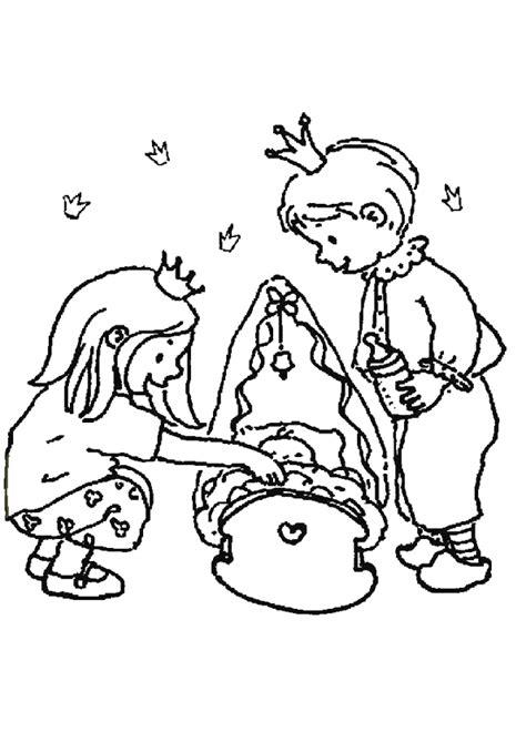 coloriage le frère la sœur et le bébé royaux