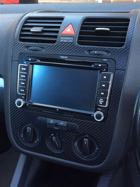 vw golf mk5 jetta bora rabbit carbon fibre effect dash surround air vents 05 ebay