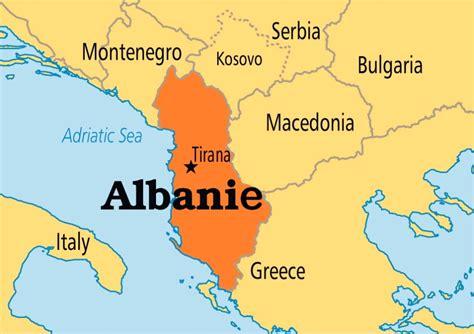 Carte Du Monde Avec L Albanie by Albanie Carte Du Monde